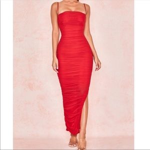 FORNARINA RED MAXI DRESS